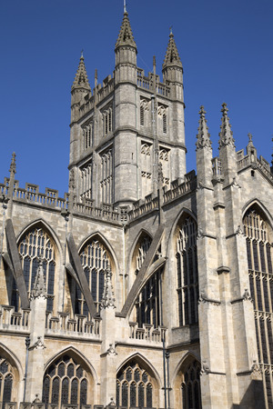 uk: Bath Abbey Tower, England; UK