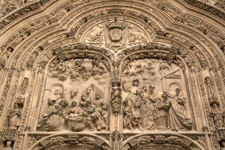 salamanca: Cathedral Church Facade, Salamanca, Europe