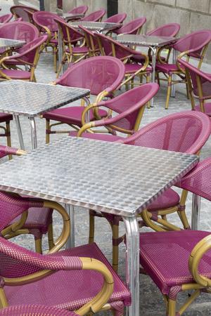 salamanca: Cafe Table and Chairs, Salamanca Stock Photo