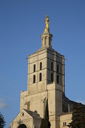 avignon: Avignon Cathedral Facade, France Editorial