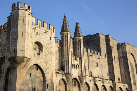 des: Palais des Papes - Palace of the Popes, Avignon, France