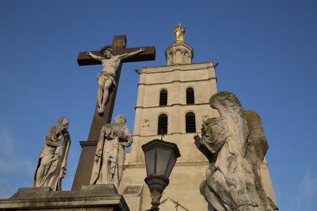 avignon: Avignon Cathedral Facade, France Stock Photo