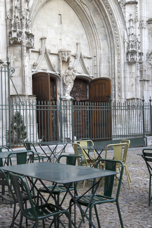 pierre: Cafe Tables and Chairs in St Pierre Square, Avignon, France
