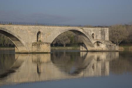 avignon: St Benezet Bridge, Avignon, France Stock Photo