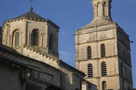 avignon: Avignon Cathedral Tower Facade, France Stock Photo