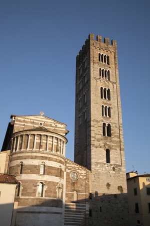 lucca: St Frediano Church; Lucca; Italy; Europe Stock Photo