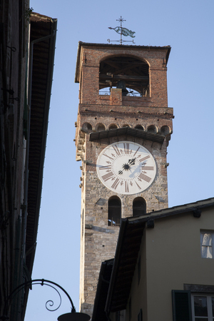 lucca: Clock Tower, Lucca; Italy; Europe
