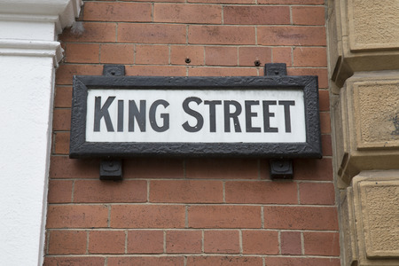king street: King Street Sign, Leeds; Yorkshire; England; UK