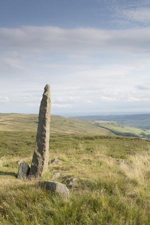 moors: Standing Stone on North York Moors; England; UK