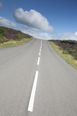 moors: Open Road in North York Moors; Yorkshire; England; UK Stock Photo