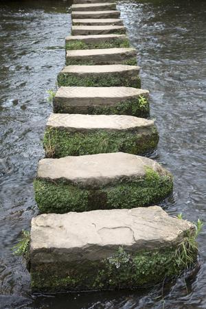 moors: Stepping Stones, Lealholm, North York Moors, Yorkshire, England, UK Stock Photo