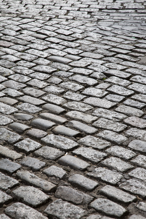 durham: Cobbled Stone Street, Durham, England, UK
