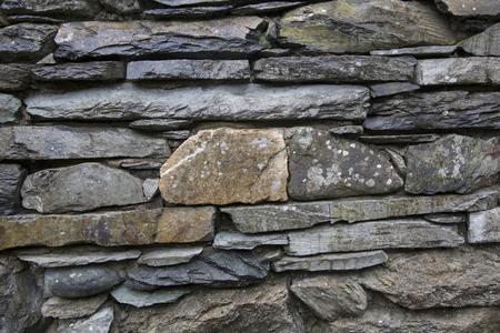 lake district: Stone Wall, Ambleside; Lake District; England; UK