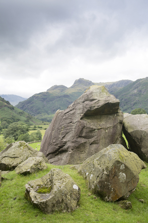 The Langdale Boulders, Lake District, England, UK