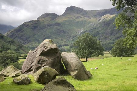 lake district: The Langdale Boulders, Lake District, England, UK