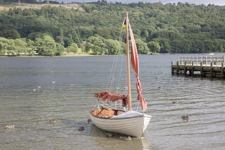 sailing boats: Sailing Boat, Coniston Water, Lake District, England, UK