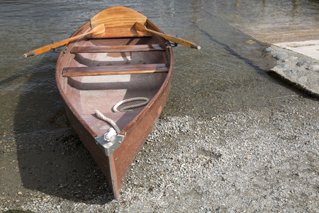 lake district england: Rowing Boat, Coniston Water, Lake District, England, UK Stock Photo