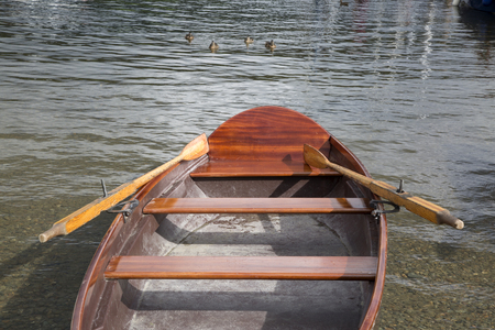 lake district: Rowing Boat, Coniston Water, Lake District, England, UK Stock Photo