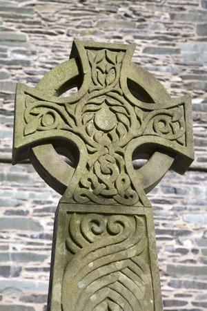 lake district england: War Memorial and Church, Coniston; Lake District; England; UK