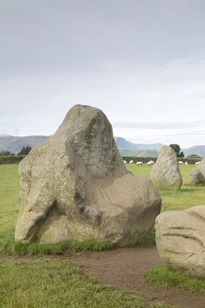 lake district england: Castlerigg Stone Circle, Keswick; Lake District; England; UK