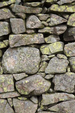 lake district england: Stone Wall outside Keswick; Lake District; England; UK