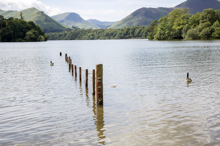 lake district: Derwent Water, Keswick, Lake District, England, UK Stock Photo