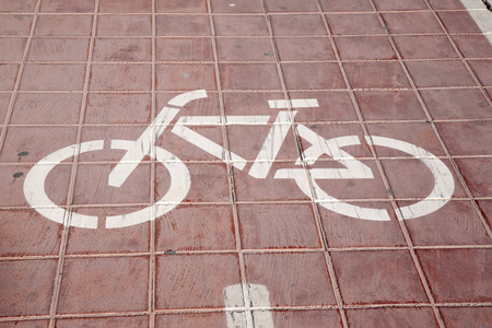 road surface: Cycle Path Symbol on Road Surface