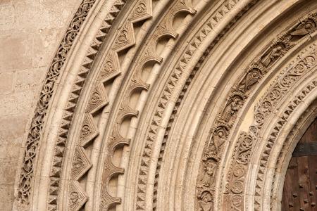 valencia: Cathedral Church Entrance, Valencia, Spain Stock Photo