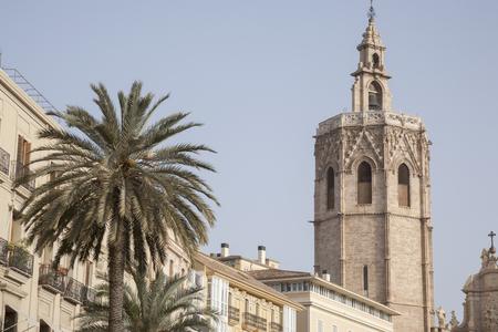 valencia: Cathedral Church Tower; Valencia; Spain Stock Photo