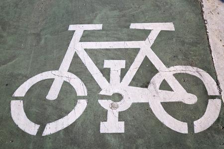 Bike Lane Sign, Saragossa; Aragon Stock Photo