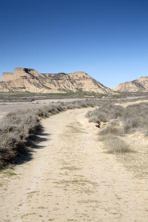 navarre: Track in Bardenas Reales Park; Navarre; Spain