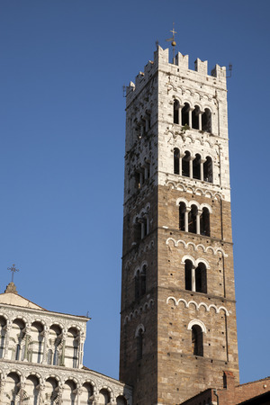 St Martino Cathedral Church Tower; Lucca; Tuscany; Italy