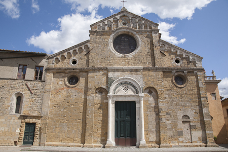 Cathedral Church, Volterra; Tuscany; Italy Stock Photo