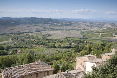 montepulciano: Tusan Countryside from Montepulciano Village; Tuscany; Italy Stock Photo