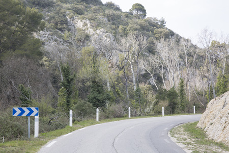 lourmarin: Road in Alpes Haute, Luberon Park outside Lourmarin Village, Provence, France