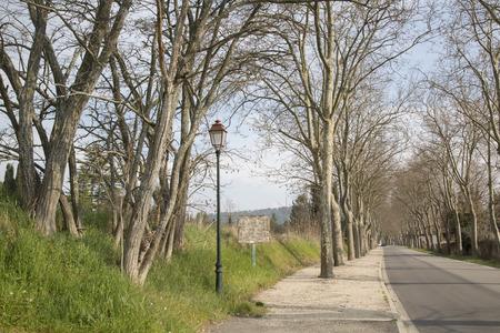 lourmarin: Road into Lourmarin Village, Provence, France