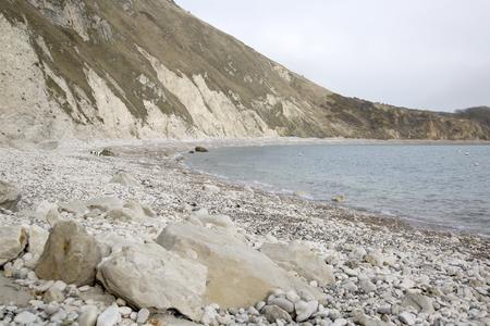 dorset: Lulworth Cove Beach, Dorset; England; UK