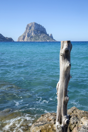 vedra: Pier at Hort Cove and Beach; Ibiza, Spain