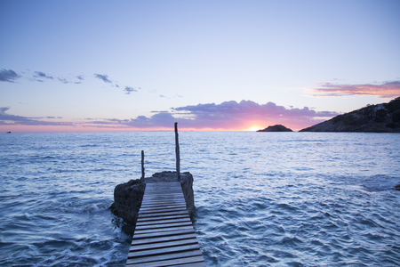 Pier at Hort Cove Beach; Ibiza; Spain