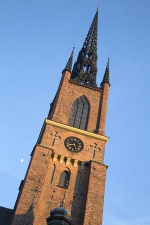 Tower of Riddarholmen Church; Stockholm; Sweden; Europe Stock Photo