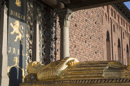 Cenotaph of Birger jarl at the Stockholm City Hall, Sweden Stock fotó