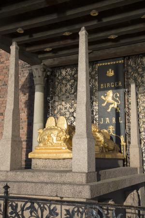 Cenotaph of Birger jarl, Stockholm City Hall, Sweden Stock fotó