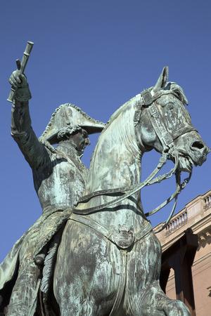 Karl Johan XIV Statue by Fogelberg (1864), Gamla Stan; Stockholm; Sweden