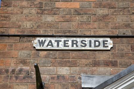 stratford upon avon: Waterside Street Sign; Stratford Upon Avon; England; UK