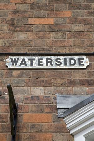 stratford upon avon: Waterside Street Sign, Stratford Upon Avon, England, UK