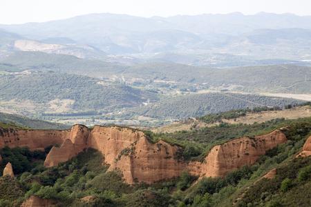 View from Orellan; Medulas; Leon; Spain; Banco de Imagens