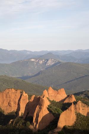 View of Peaks, Medulas, Leon, Spain Banco de Imagens
