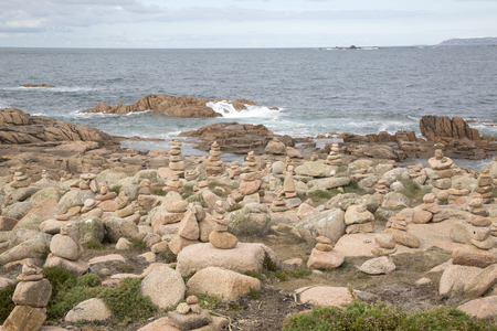 Rock Stack, English Cemetery, Trece Head Beach; Costa de la Muerte; Galicia; Spain