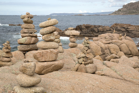 Rock Stack, English Cemetery, Trece Head Beach; Costa de la Muerte; Galicia; Spain