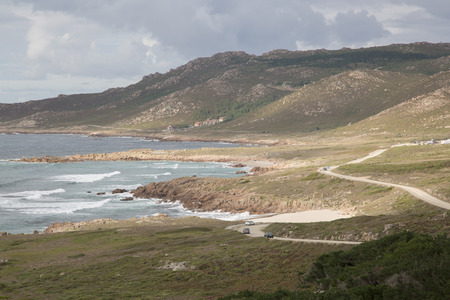 Forcados Point Beach; Costa de la Muerte; Galicia; Spain Stock Photo
